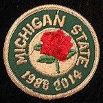 MSU Rose Bowl patch 1988 2014