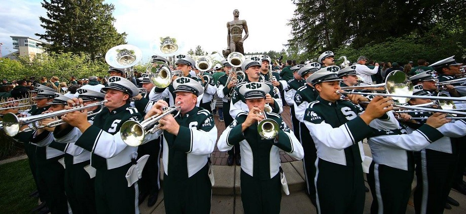spartan marching band  u2014 michigan state university