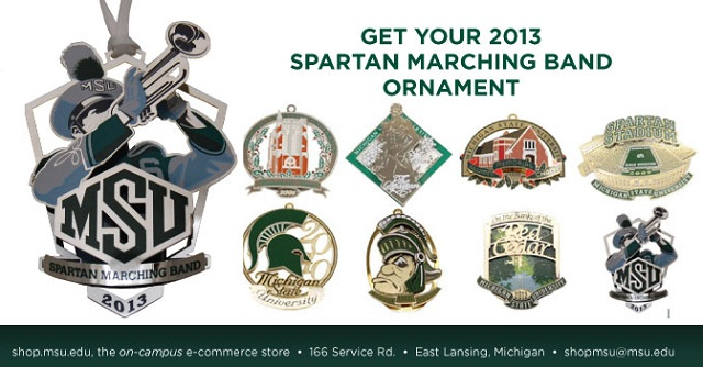 2013 Spartan Marching Band Ornament