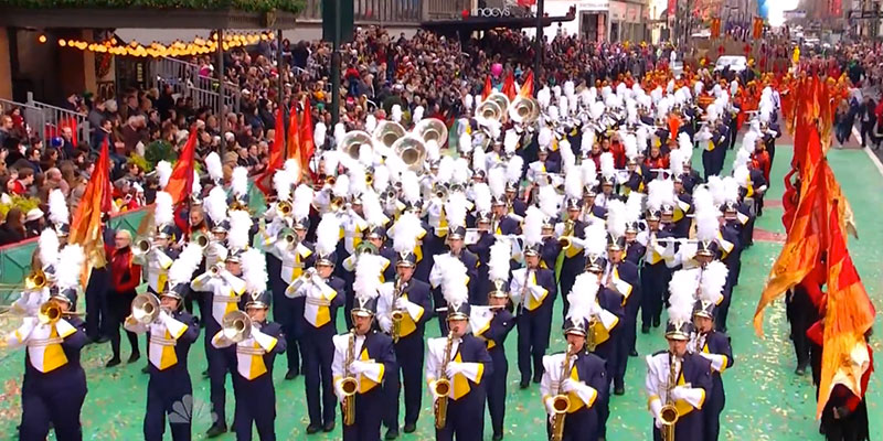 MSU Alumnus Leads Walled Lake Central Marching Band in Macy's Day Parade