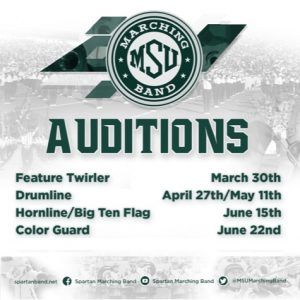 SMB 2019 Audition Dates Announced