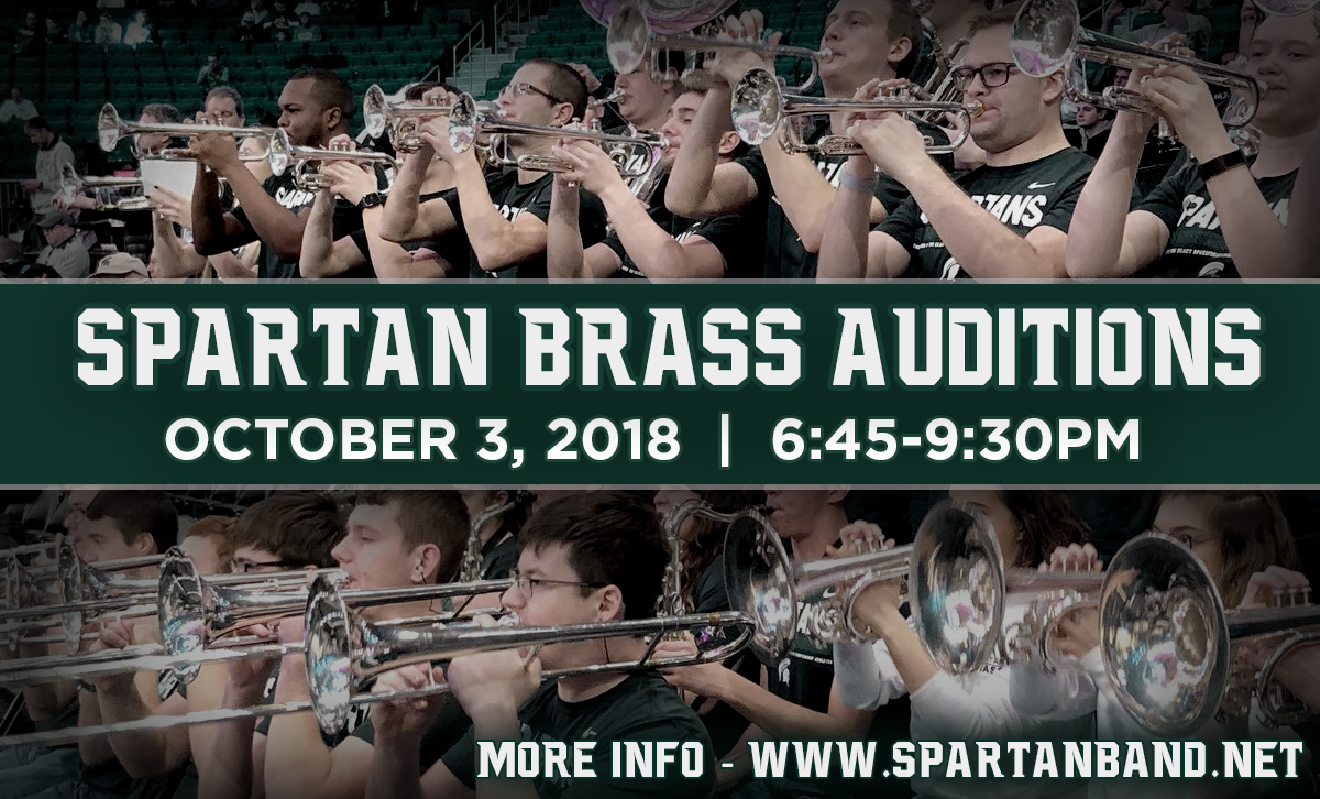 2018-19 Spartan Brass Auditions | Spartan Marching Band