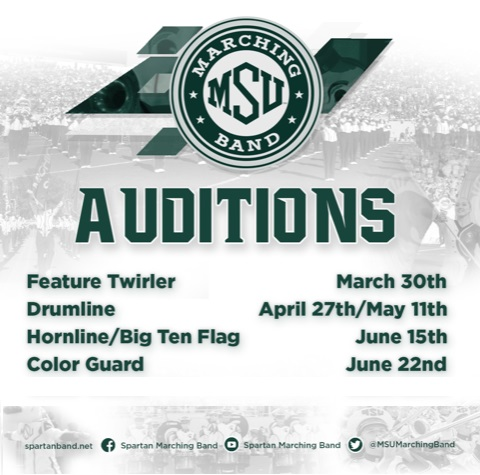 SMB 2019 Audition Dates Announced | Spartan Marching Band